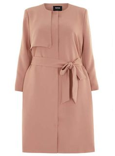 Plus Size Trench Coat - Plus Size Carmakoma Pink Trench Coat