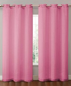 Take a look at this Hot Pink Sparkle Curtain Panel by Victoria Classics on #zulily today!