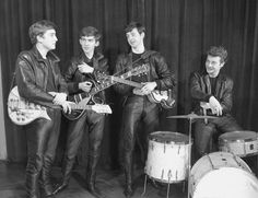 the beatles at their first photo session december 17 1961