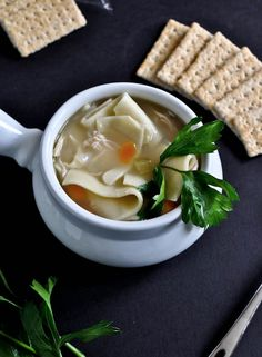 Homemade Chicken Noodle Soup Recipe | howsweeteats.com