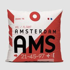 Dream of travels when you rest your head on one of these airport pillows. Each pillows shows an IATA codes—the three-letter codes that designate airports, worldwide.
