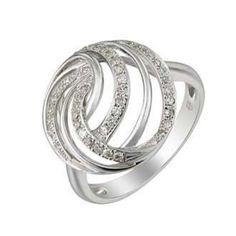 0.2 Carat Diamond 14K White Gold Women Rings 3.44g