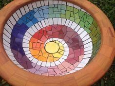 Cuba em mosaico, mosaico espiral, colorido. by Schandra Mosaico