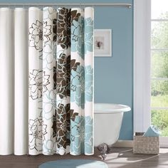 JLA Home Madison Park Jane Printed Cotton Shower Curtain
