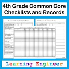 """I took the 4th Grade Common Core State Standards and turned them into student and teacher friendly """"I can"""" statements. I used those to create these records. I made two types of records. One for tracking an individual student's progress and one for teachers to track when they have taught/reviewed each standard. There are records for each content area: Reading, Writing, Language, Speaking Listening, and Math. I included space for comments for each standard. $ #FourthGradeCommonCore"""
