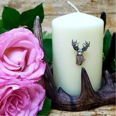Stags Head Candle Pin from Hurd & Co. Handsome stags head candle pin that looks great in any country home. Summer Hygge, Outdoor And Country, British Country, Country House Interior, Stag Head, Country Style Homes, Country Outfits, Next At Home, Pillar Candles