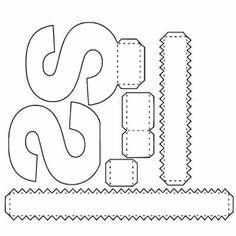 S van Sarah 3d Alphabet, Alphabet Templates, Spider Crafts, Homemade Bath Bombs, Diy Letters, Paper Crafts Origami, Mason Jar Crafts, Diy For Kids, Lettering