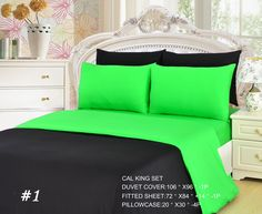 Add a spark of color to your bed set, With our Lime colored bedding. Great for a summer theme, of just brightening up your room. A Duvet Cover - is Used to cover any Comforter or Duvet Set. It is make