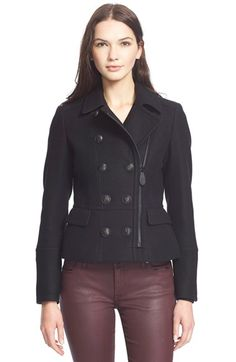 Burberry Brit Buberry Brit 'Milbury' Wool Blend Jacket available at #Nordstrom