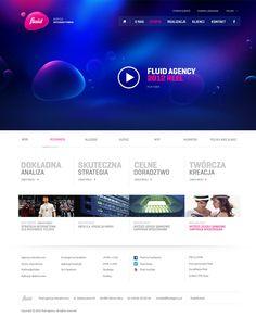 Fluid - interactive agency by Łukasz Dopierała, via Behance