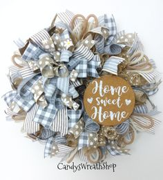 Farmhouse Wreath Home Wreath Welcome Wreath Everyday Christmas Mesh Wreaths, Deco Mesh Wreaths, Fall Wreaths, Burlap Wreaths, Floral Wreaths, Door Wreaths, Prim Christmas, Diy Spring Wreath, Diy Wreath