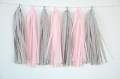 Pink and Grey Party Decor // Wedding // Bachelorette Party // Princess Party // Nursery // Baby Shower on Etsy, $26.00
