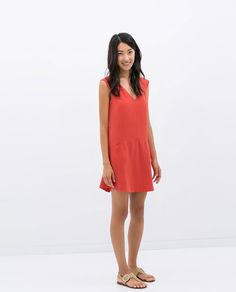 Image 1 of V-NECK DRESS from Zara