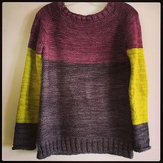29 - knitted by thegigglinggecko (Judy B) on Ravelry. Tricolor Pullover; pattern by Isabell Kraemer.
