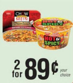Nissin Chow Mein & Bowl Noodles Only 12¢ At Publix - http://couponsdowork.com/publix-coupon-matchups/nissin-chow-mein-publx/