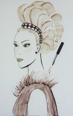 Fashion Illustration art printPrint of by JasnaIllustrations