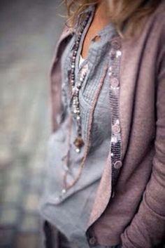 grey & pinkish purple
