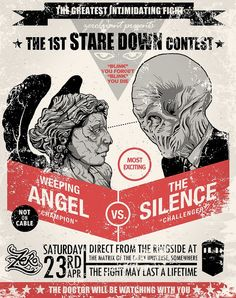 Weeping Angels vs The Silence... I don't get it. Who's the Weeping Angel having a staring contest against?