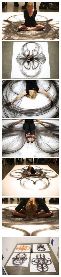 Artista americana usa o corpo para criar arte.