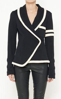 Balenciaga Black And Cream Jacket   VAUNTE