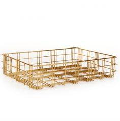 XLBoom opbergmand Harri brass medium  SHOP ONLINE: http://www.purelifestyle.be/shop/view/home-living/woonaccessoires-decoratie/xlboom-opbergmand-harri-brass-medium