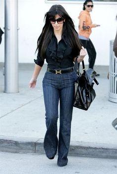 I love Kim Kardashians style. High-waisted ...