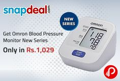 Snapdeal offers Omron Hem-7120 Blood Pressure Monitor New Series only in Rs. 1,029. Omron Blood Pressure HEM-7120 monitor enables an easy and regular monitoring of your blood pressure accurately.It has big screen, which enables easy reading. It helps in accurate measurement of blood pressure with hypertension indication for timely action and accurate detection of irregular heartbeat.  http://www.paisebachaoindia.com/get-omron-blood-pressure-monitor-new-series-only-in-rs-1029-snapdeal/