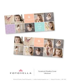 """Little Boxes"" Facebook Timeline Cover Template by FOTOVELLA / Photoshop templates for photographers / Featuring images by Chubby Cheek Photography"