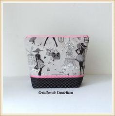 Collection Mode Grande Trousse «Parisienne» fait main : Trousses par creations-de-cendrillon