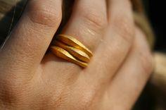 PILA anelli - oro 3D stampato anelli impilabili