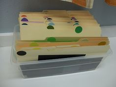 smart scrap paper storage - only use a paperboard box instead of plastic. Scrap Paper Storage, Scrapbook Storage, Scrapbook Organization, Craft Room Storage, Paper Organization, Craft Rooms, Organizing Ideas, Scrapbook Rooms, Scrapbooking