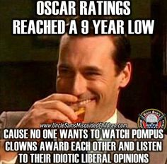 I've only watched it in the past for the fashion. There isn't enough fashion in this world to make me ever watch the Oscars again!!
