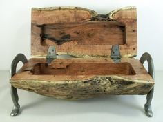 Mesquite Jewelry Box or Trinket Box Made in Texas by XXRanchArt, $70.00