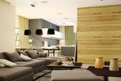 Excellent Modern Interior Beautified with Pallet Color Composition: Wooden Material For Intriguing Fresh Modern Designs Living Space