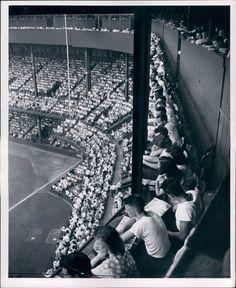 Third deck press box - 1940s Detroit Tigers, Briggs Stadium