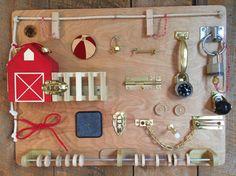 Busy Board Activity Board Montessori Sensory by TheSquareNail
