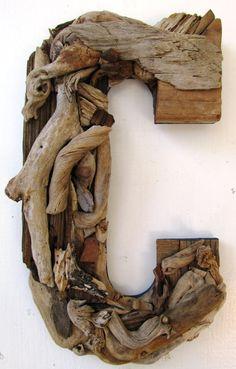 Custom Driftwood LettersCoastal Home Decor Rustic Letters Wooden Decor, Wooden Diy, Rustic Decor, Rustic Wood, Driftwood Furniture, Driftwood Projects, Driftwood Ideas, Large Driftwood For Sale, Driftwood Mobile