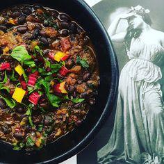A2K - A Seasonal Veg Table: Black Rainbow Chard Chili Beans