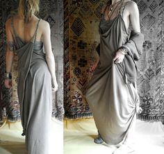 A dress you can live in ~~ the Mama Wolf dress wraps, ties, drapes, layers, transforms ~ adapting to body changes in extreme comfort.