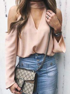 pink cut-out shoulder top