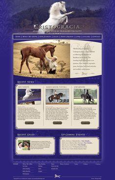 Website design for Australian Andalusian horse breeder, Cristogracia. www.cristogracia.com.au