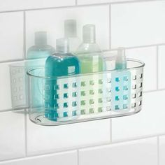 6. InterDesign Suction Bathroom Shower Caddy