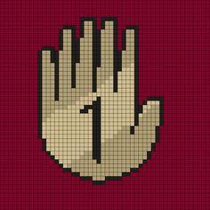 Gravity Falls Book 1 Perler Bead Pattern by Melissa Pious