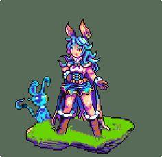 Media Tweets by 谷鳥 (@tnitor) | Twitter Cool Pixel Art, Anime Pixel Art, Sprites, Character Inspiration, Character Design, Modele Pixel Art, Perler Bead Art, Alpha Patterns, Game Assets