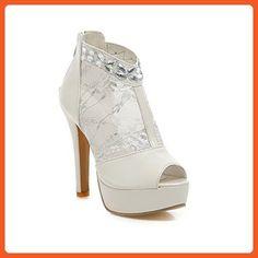 New sexy high heels stiletto shoes women white heels women peep toe wedding  shoes bride 35f253040df3