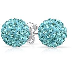 Bling Jewelry Beach Ready Studs ($9.99) ❤ liked on Polyvore featuring jewelry, earrings, ball-earrings, blue, blue jewelry, ball earrings, beach earrings, earring jewelry and ball jewelry