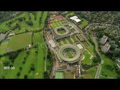 Aerial wide shot pan ● All England Lawn Tennis and Croquet Club ● Wimbledon