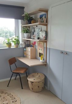 Simple desk area for mollys room Scandi, Nordic kids room inspo