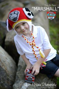 Paw Patrol Marshall, Puppy Crochet Hat, Newborn and Photo Prop, Children's  Firetruck Hat by HatsByTracy on Etsy