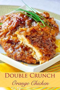 Double Crunch Orange Chicken - This very inviting crispy orange chicken recipe is an outstanding variation of our Double Crunch Honey Garlic Chicken recipe. #Oranges